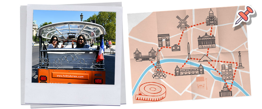 visite sur mesure de Paris en tuk-tuk