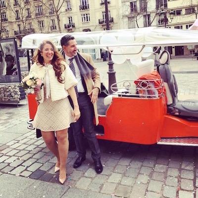 weddind day in paris
