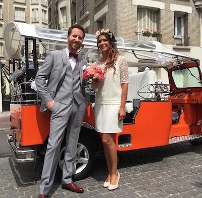 wedding in a tuktuk