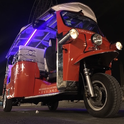 our tuktuk with the led lights