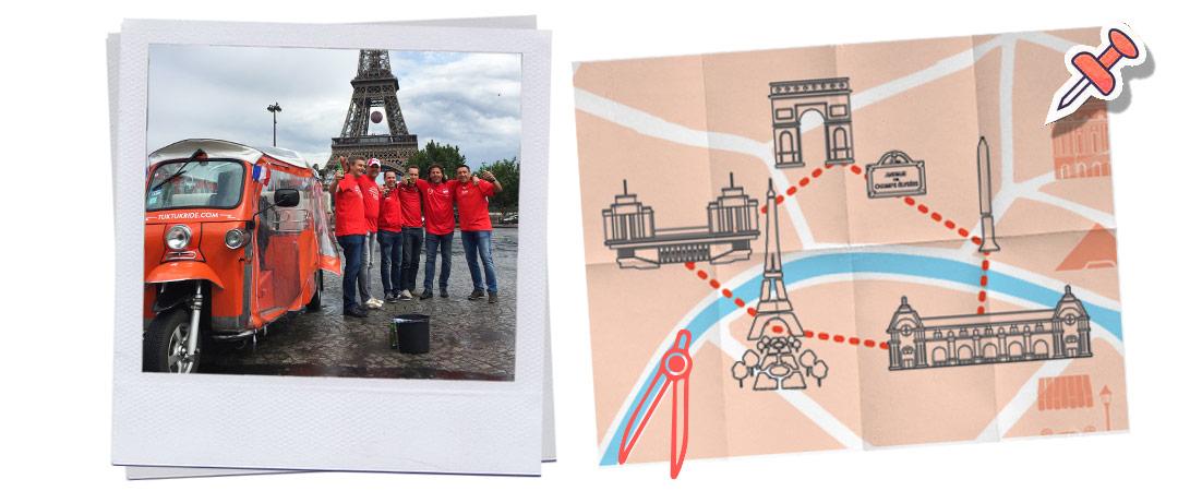 Visiter de la Tour Eiffel en tuk-tuk