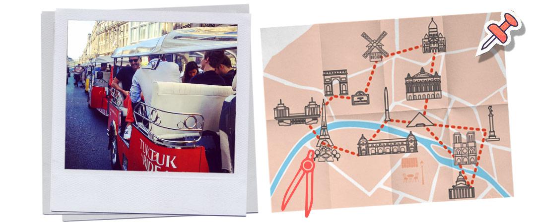 grand tour de Paris en tuk-tuk