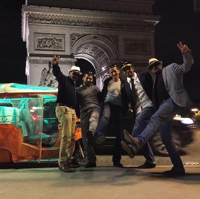 EVG de patrick en tuktuk à l'arc de triomphe