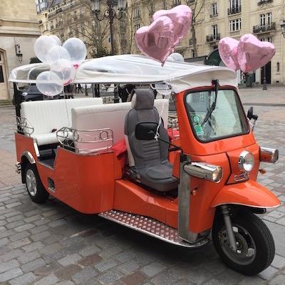 Décoration du tuktuk pour un mariage