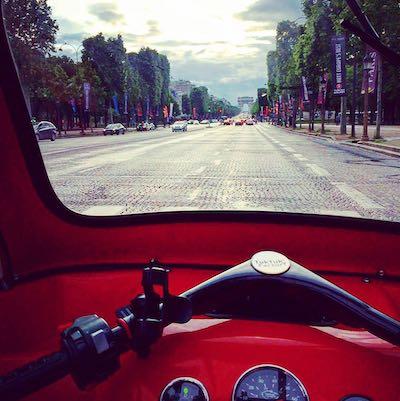 Vue conducteur tuktuk