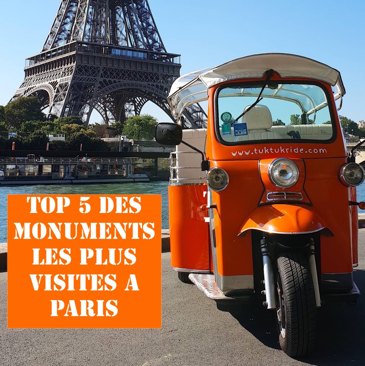 tuktuk paris top 5 monuments